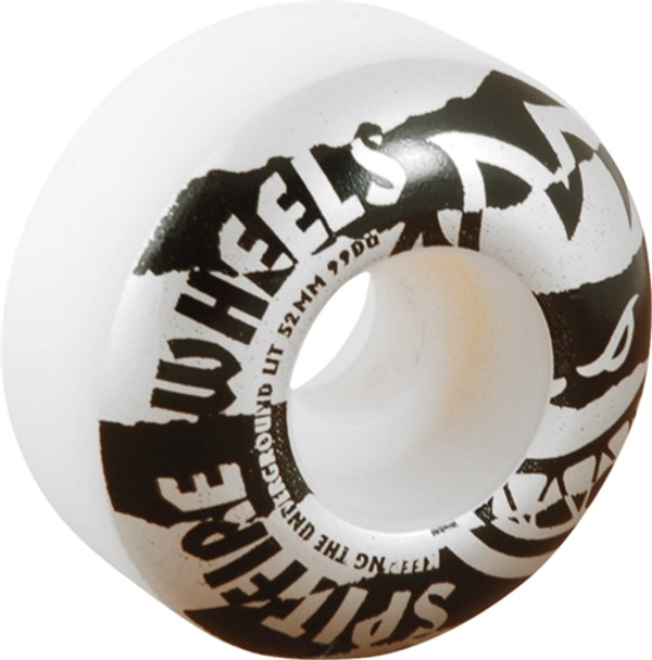 SPITFIRE SHREDDED 52mm WHT/BLK Wheels Set