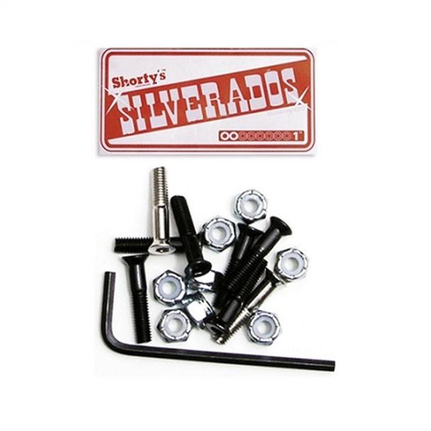 Shortys Silverados Hardware Black 1inch