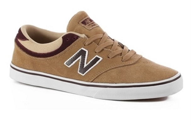 5f3347311a1 New Balance Quincy 254 Skate Shoes Tan White