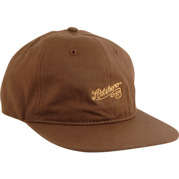 Anti Hero Script Snapback Hat Brown Snapback