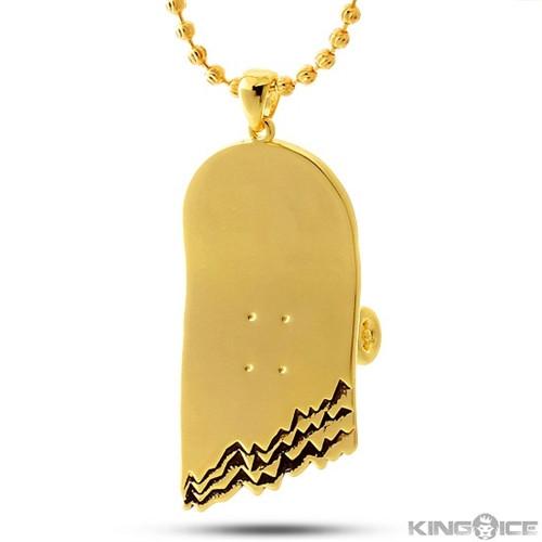 3e2265820 King Ice Broken Skateboard Necklace 14K Gold | Boardparadise.com