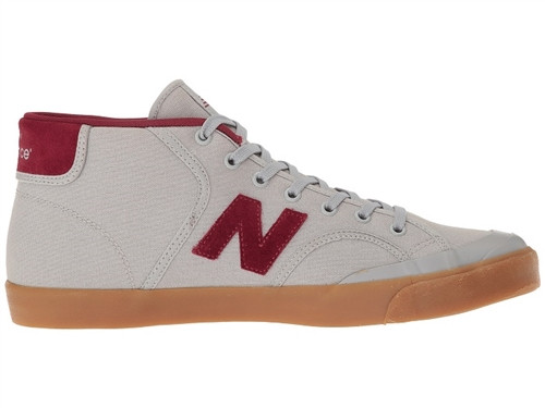 1de83c2a3b3b New Balance 213 Mid Skate Shoes Lt Grey Burgundy | Boardparadise.com