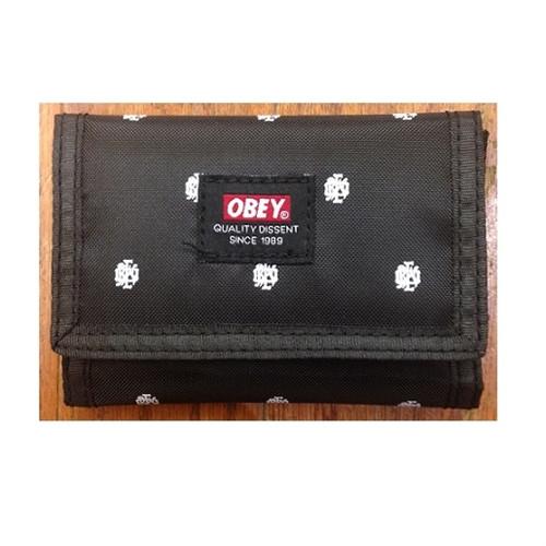ee5af0d852cbb Obey Dissent Tri-Fold Wallet Black Multi