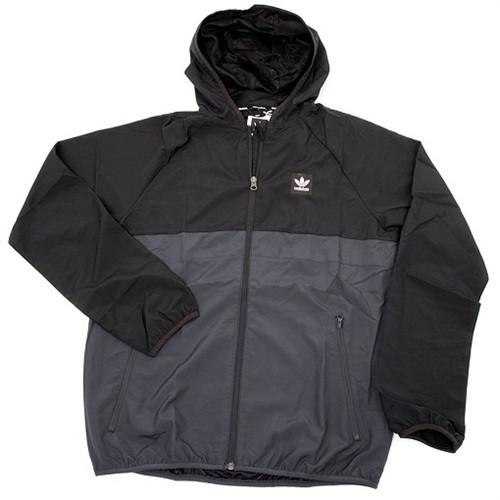 1bd8edf0c68b Adidas Blackbird Windbreaker Jacket Black Grey