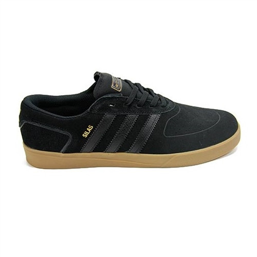 827cd853d9 Adidas Silas Vulc Adv Skate Shoes Black Black Gum