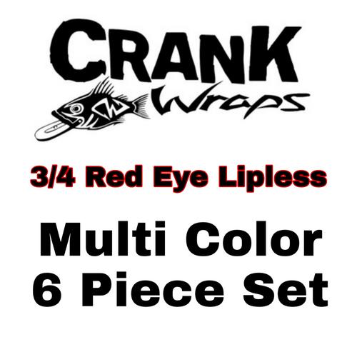 3/4 Red Eye Lipless Baitfish 6 Piece Set
