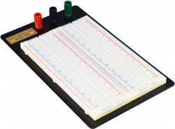 Elenco 1660 Tie Points - 252 Separate 5 Point Terminals, 8 Horizontal Bus Lines of 50 Test Points Each, Binding Posts Coded Black; Red and Green