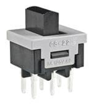 NKK Switches CS22BNW03 Slide Switches DPDT ON-NONE-ON 3A
