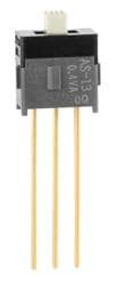 NKK Switches AS13AW Slide Switches SPDT ON-OFF-ON .098 ACTUATR EXTD PC .4VA