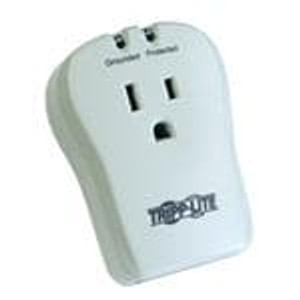 Tripp Lite TRAVELCUBE Power Outlet Strips Tripp Lite Notebook Surge Protector Wallmount Direct Plug In 1 Outlet RJ11