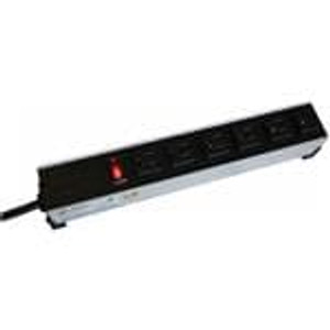 Hammond Manufacturing 1584T8B1 Power Outlet Strips Power Outlet Strip 8-Outlet, 15' Cord