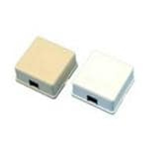 AIM-Cambridge / Cinch Connectivity Solutions 30-5198ABW Modular Connectors / Ethernet Connectors WHITE 1 PORT BOX
