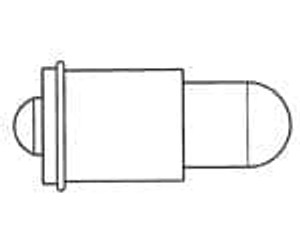 Dialight 521-9208F LED Replacement Lamps - Based LEDs YEL MIDGET FLANGE NON DIFF 3/4 BASE
