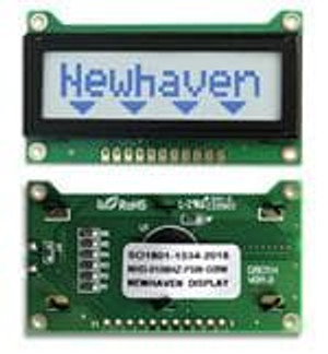 Newhaven Display NHD-0108HZ-FSW-GBW LCD Character Display Modules & Accessories STN-GRAY Transfl 60.7 x 33.85