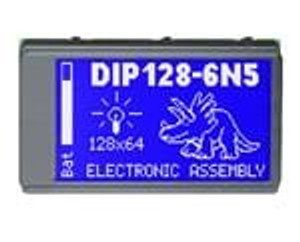 ELECTRONIC ASSEMBLY EA DIP128-6N5LW LCD Graphic Display Modules & Accessories Black/White Contrast White LED Backlight
