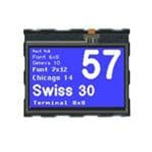 ELECTRONIC ASSEMBLY EA eDIP160B-7LW LCD Graphic Display Modules & Accessories 160x104 Intl. Blue Neg White Bklght