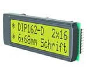 ELECTRONIC ASSEMBLY EA DIP162-DHNLED LCD Character Display Modules & Accessories Yel/Green Contrast Yl/Grn LED Backlight