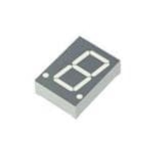 "Kingbright SA08-11CGKWA LED Displays & Accessories .8"" SINGLE DIGIT GRN LED DISPLAY"