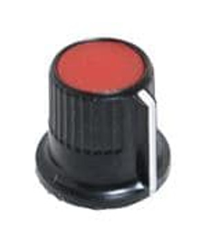 """Eagle Plastic Devices 450-0126 Knobs & Dials 1/8"""" SHAFT KNOB RED"""
