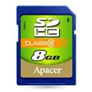 Apacer AP8GSDHC6-R Memory Cards SD (HC) CARD 8GB COMMERCIAL CLASS 6