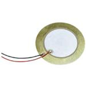 CUI Devices CPT-3526-L100 Piezo Buzzers & Audio Indicators buzzer, 35 mm round, 0.53 mm deep, P, 2.6 kHz, 30 V, 100mm wire leads, no driving circuit