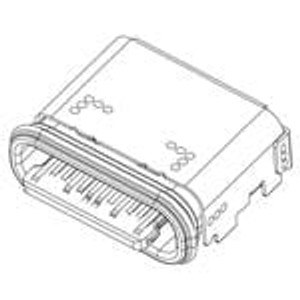 Amphenol Commercial Products 124018612112A USB Connectors USB TYPE C, RECPT WATERPROOF