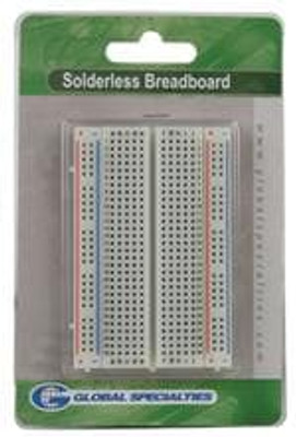 Global Specialties GS-400 PCBs & Breadboards 3.3X1.4 400 Tie Points 80 Term Clips