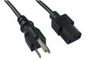 "Qualtek 312007-01 AC Power Cords SJT, 3X18 BLK 6' 7"" 125V 10A"