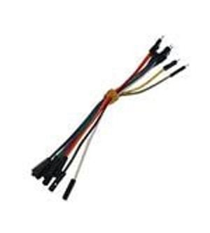 Mikroe MIKROE-512 Jumper Wires WIRE JUMPER MALE TO FEMALE 15CM 10PK