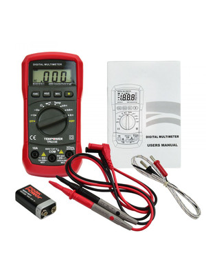 TekPower TP8233E Digital Multimeter AC DC Voltage Current Temperature Resistance Tester Ohmmeter Full Contents