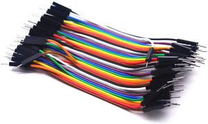 Jumper Wire Set 40x10cm Male to Male  28AWG 10 colors