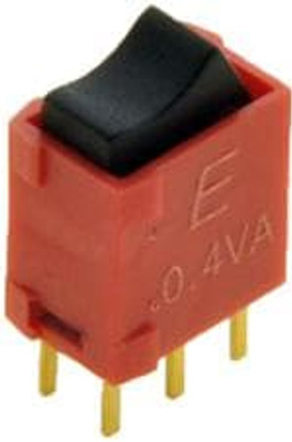E-Switch 400UDP1R1BLKM2RE Rocker Switches .4A 20VAC/DC DPDT ON-ON PC TH IP67