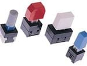 E-Switch TL2201OAZB1CRED Pushbutton Switches 100mA 30VDCMomentary DPDT