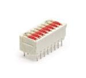 TE Connectivity / Alcoswitch 5338048-2 DIP Switches / SIP Switches 2P DIP SWITCH W/ ACTION PIN POSTS