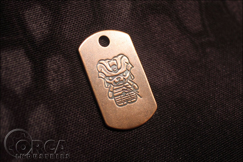 Steel Flame - Kuma Korps - Samurai - Copper Tag