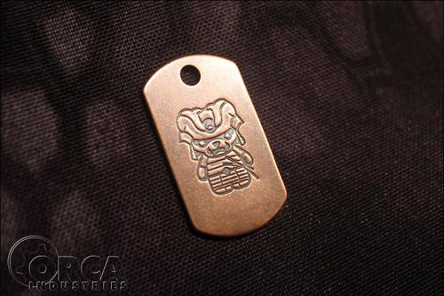 Steel Flame - Kuma Korps - Samurai - Copper Tag