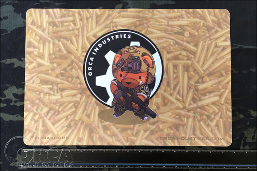 "Kuma Korps - War Bear 18"" x 12"" Workmat - Artwork by Chris Ha"