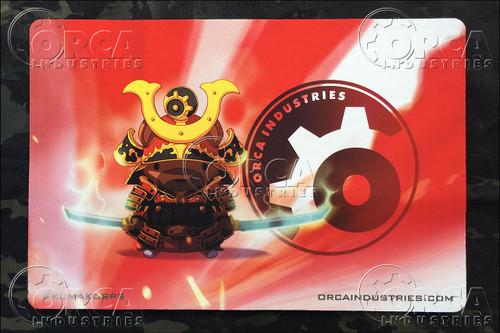 "Kuma Korps - Aka (Red) Samurai 18"" x 12"" Workmat - Artwork by Chris Ha"