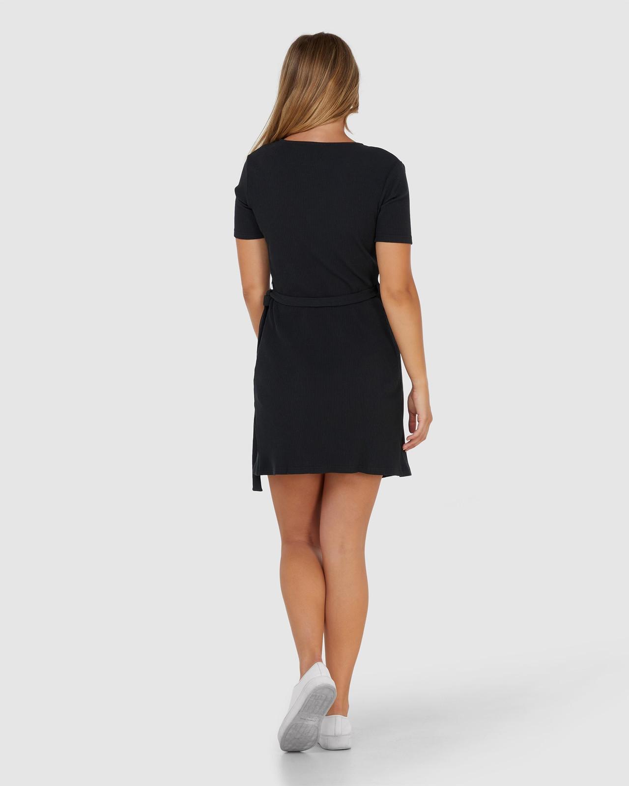 Elwood Womens Amelia Wrap Dress Black