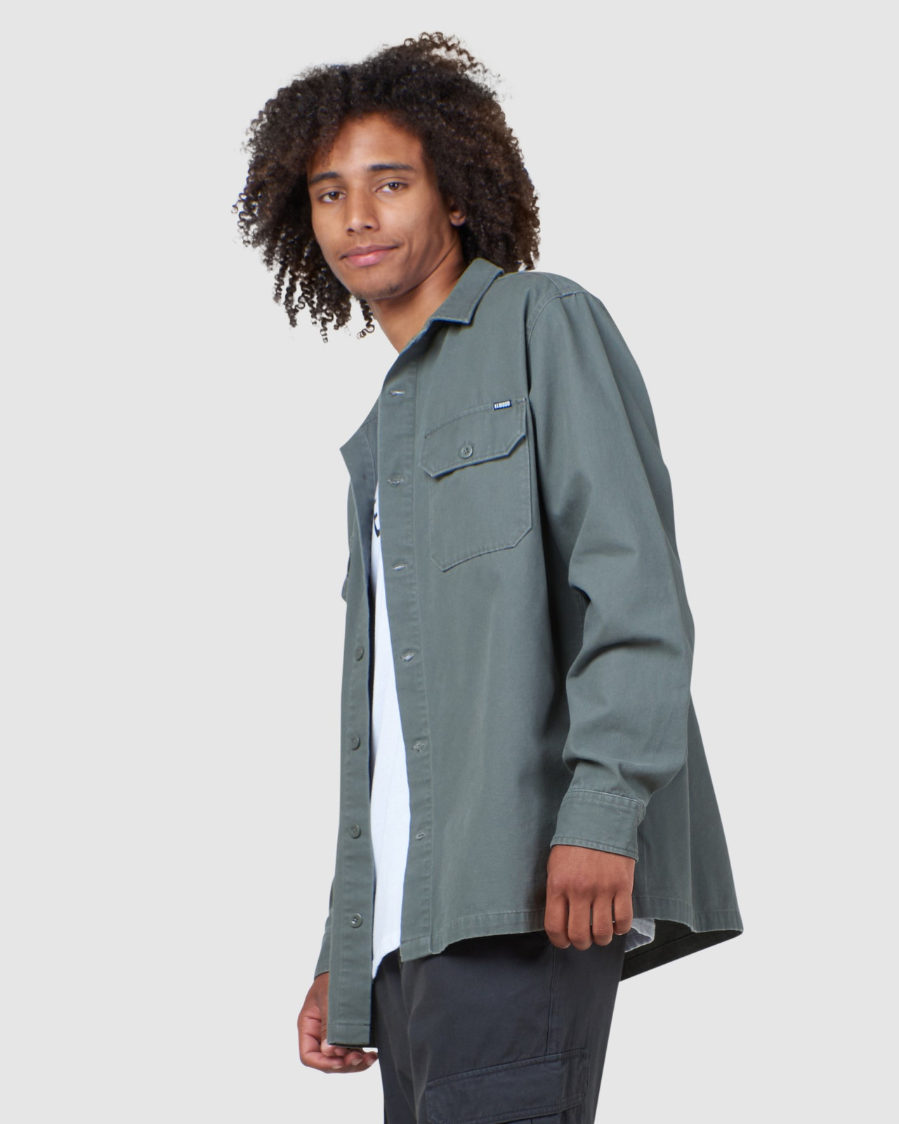 Elwood Mens Paxton Work Shirt Green