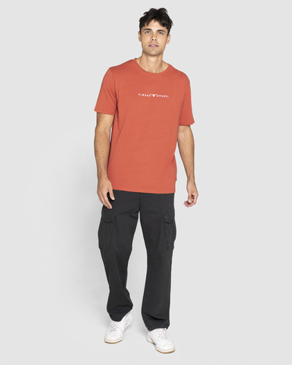 Elwood Mens Essentials  Ss Tee Baked Clay