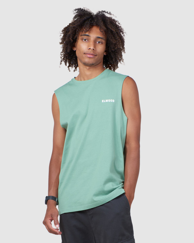 Elwood Mens MIRAGE MUSCLE Green