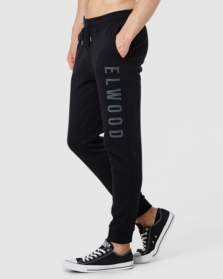 Elwood Mens Huff N Puff Track Pants Black