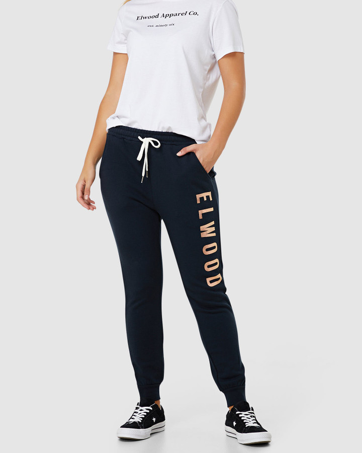 Elwood Huff N Puff Track Pants Navy/Gold