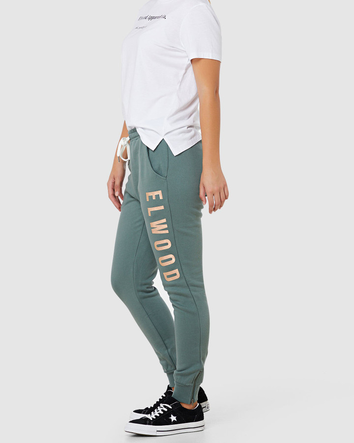 Elwood Huff N Puff Track Pants Hunter Green