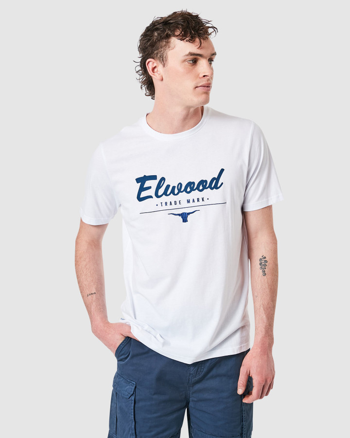 Elwood Sherry Tee White