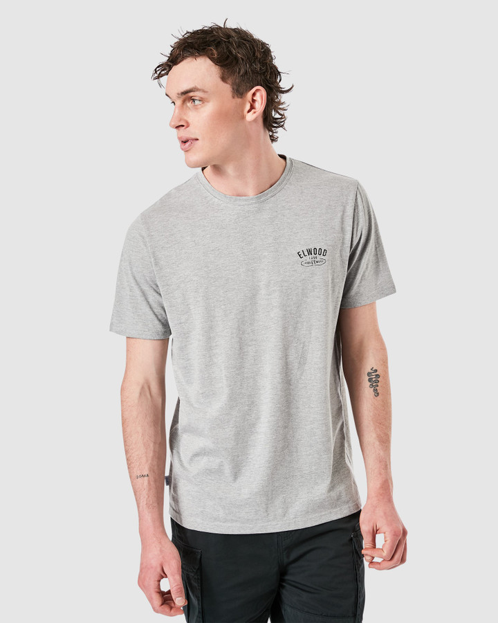 Elwood Solidstate Tee Grey Marle