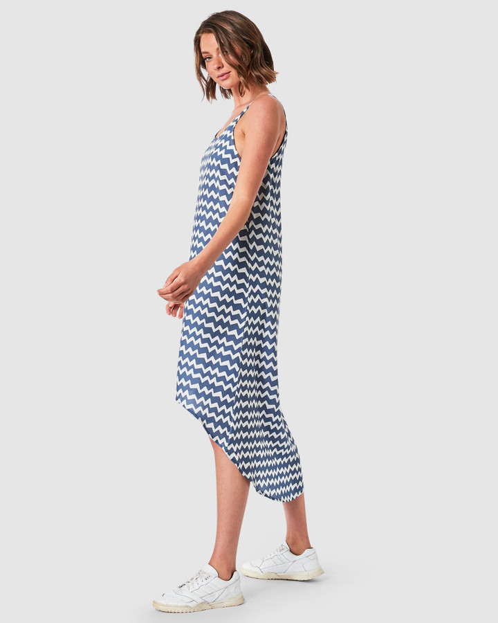 Elwood Zoe Slip Dress Chevron