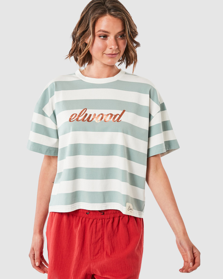Elwood Lilly Tee Mint/White