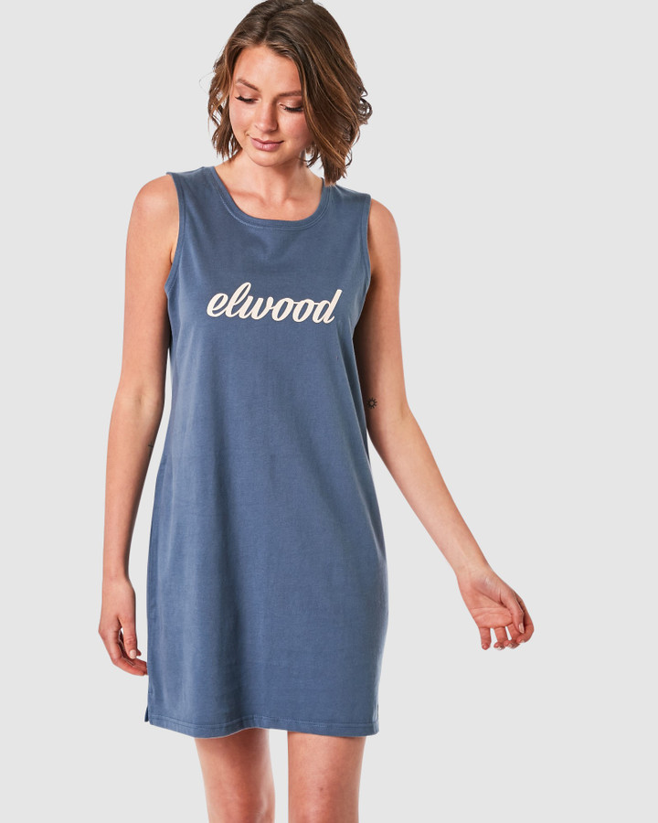Elwood Greta Dress Navy